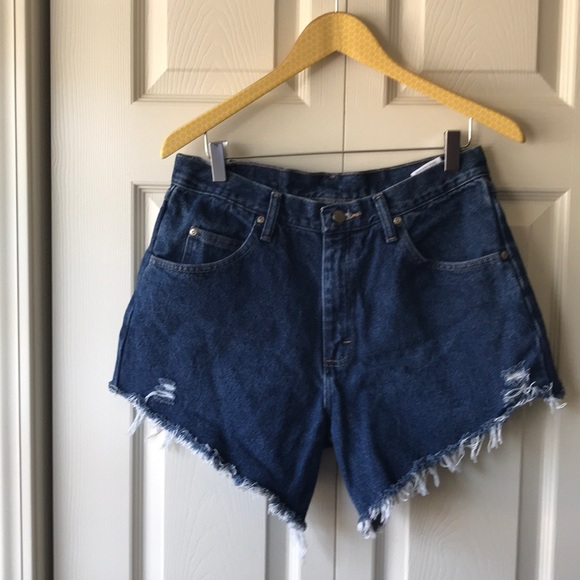 Wrangler Pants - VTG Wrangler cut off jean shorts